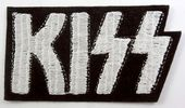 Kiss - 'White Logo' Embroidered Patch